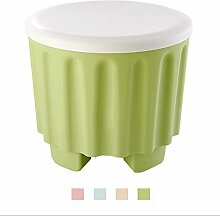 Sitzhocker Sitzbank Sitztruhe Sitzwürfel Aufbewahrungsbox mit Stauraum Farbauswahl (Grün)
