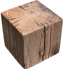 Sitzhocker / Sitzwürfel Eiche 45x45x45 cm