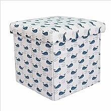 Sitzhocker Sitzwürfel Fußbank Aufbewahrungsbox Ordnungsbox Kiste mit Deckel Faltbar Belastbar Bis 100KG 31x31x31cm S5