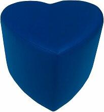 Sitzhocker - Sitzwürfel Herzform Königsblau