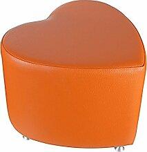 Sitzhocker - Sitzwürfel Herzform Orange