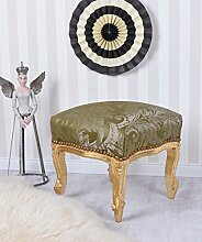 Sitzhocker Vintage Hocker Gold Grün Sitzbank Schemel Fussbank Barock Palazzo Exklusiv