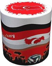 Sitzhocker WM Türkei Turkey Maße: Ø 34 cm x 44