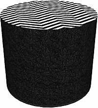 Sitzhocker Zigzag l Schwarz Weiß Muster l 40x40 l Stoffbezug Waschbar l Sitzwürfel l Handarbei