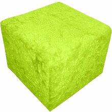 Sitzhocker Zottel - Sitzwürfel in verschiedenen Farben, Farbe:grün