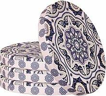 Sitzkissen 4er-Set im Ornament Design Rund
