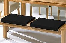 Sitzkissen/Klemmkissen für Sitzbank Kunstleder, schwarz