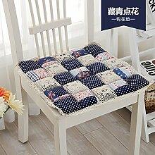 Sitzkissen Pads Sitzkissen Sitzkissen Sitzkissen Esszimmer Büro Sitzpolster-volle Baumwolle Verdickung 1 Packung Multi Color Optional, Blau 48 * 48 Cm