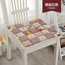 Sitzkissen Pads Sitzkissen Sitzkissen Sitzkissen Esszimmer Büro Sitzpolster-volle Baumwolle Verdickung 1 Packung Multi Color Optional, 48 * 48 cm Ro
