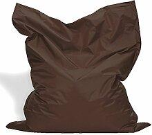 Sitzkissen XL-XXXXL Sitzsack Bodenkissen Kissen Sack In-und Outdoor (XL= 145 x 100, Braun)