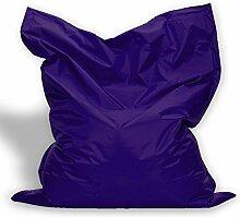 Sitzkissen XL-XXXXL Sitzsack Bodenkissen Kissen Sack In-und Outdoor (XXL= 160 x 120, Lila)