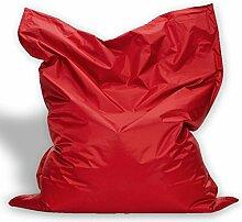 Sitzkissen XL-XXXXL Sitzsack Bodenkissen Kissen Sack In-und Outdoor (XXXL= 180 x 145, Rot)