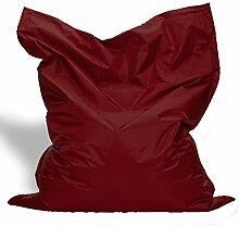 Sitzkissen XL-XXXXL Sitzsack Bodenkissen Kissen Sack In-und Outdoor (XXL= 160 x 120, Bordeaux)