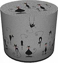 Sitzpouf Cats Hocker mit Katzenmotiv l 40x40 l Waschbar l Sitzwürfel l Handarbei