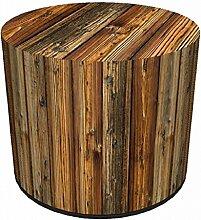 Sitzpouf Fichte Holzhocker Schemel aus Holz l Sitzwürfel Sitzhocker Sitzpuff i Sitzsack Hocker aus Filz l Fußhocker l Handarbeit l Designer Look