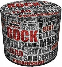 Sitzpouf Rock Music We will rock you Sitzwürfel Sitzhocker Sitzpuff i Sitzsack Hocker aus Filz l Fußhocker l Handarbeit l Designer Look