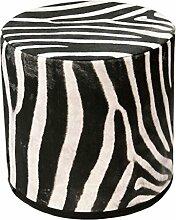 Sitzpouf Zebra Hocker mit Stoffbezug l 40x40 l Waschbar l Sitzwürfel l Handarbei