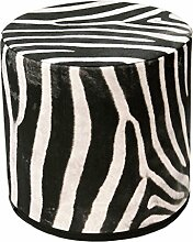 Sitzpouf Zebra Hocker mit Stoffbezug l 40x40 l