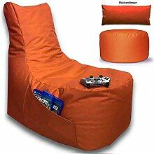 Sitzsack 3er Set Big Gamer Sessel mit EPS Sytropor