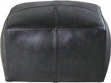 Sitzsack aus Kuhleder, schwarz