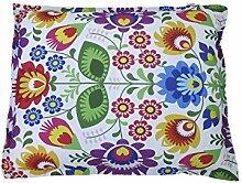 Sitzsack Beanbag Bettwäsche Polyester bedruckt Blumen XL 170x 135cm ro