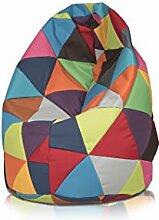 Sitzsack Beanbag Tropfen mehrfarbig Polyester für Außen L 70x 110cm