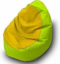 Sitzsack Beanbag Walnuss Polyester Wasserdicht für Außen 85x 85cm pistaziengrün gelb