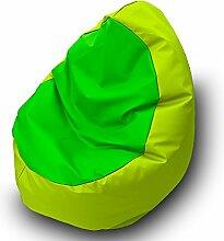 Sitzsack Beanbag Walnuss Polyester Wasserdicht für Außen 85x 85cm pistaziengrün grün