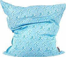 Sitzsack Blau mit Weiß 140 x 180 cm Indoor