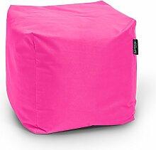 Sitzsack BuBiBag Würfel 45x45x45cm mit Füllung Cube Sitzwürfel Sitzkissen Bodenkissen Kissen Sessel BeanBag (pink)