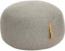Sitzsack Design Rund hellgrau aus Wolle Brei