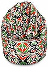Sitzsack EASY Beanbag mit Styropor Füllung 400l, 85x75x50 cm, Einschichtig - Sitzsäcke - Bodenkissen Sitzkissen Kissen Sessel Sitzsofa (Würfel)