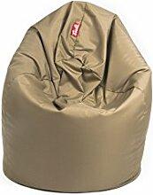 Sitzsack EASY SESSEL Beanbag mit Styropor Füllung 300l, 85x75x50 cm Made in EU Manufaktur Sessel mit extra starken Nähten verschiedene Farben und Motiven Einschichtig - Sitzsäcke - Bodenkissen Sitzkissen Kissen Sessel Sitzsofa (Sand)