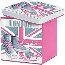 Sitzsack Faltbare Aufbewahrungsbox Girly London