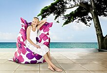 Sitzsack Floralia Farbe (Dekor): Purpur / Pink