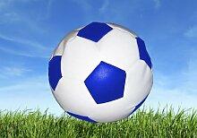 Sitzsack Fussball weiß blau