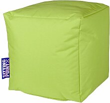 Sitzsack grün, Cube Scuba, Material 100 % Polyester, Füllung 100 % EPS-Perlen, PVC-beschichtet, outdoorfähig, wasserabweisend, B/H/T ca. 40/40/40 cm