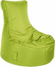 Sitzsack grün, Swing Brava Material 100 % Polyester, Füllung aus 100 % Polystyrol, mit Keder und Tasche, 300 l Volumen, Maße: B/H/T ca. 95/90/65 cm