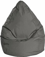 Sitzsack in anthrazit, Beanbag Brava XL, Füllung aus 100 % EPS-Perlen, 220 l Volumen, Maße: B/H/T ca. 70/110/70 cm