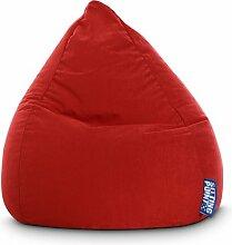 Sitzsack in dunkelrot, Beanbag Easy L, Material 100 % Polyester Microfaser, Füllung aus 100 % EPS-Perlen, 120 l Volumen, Maße B/H ca. 70/90 cm