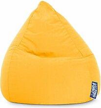 Sitzsack in gelb, Beanbag Easy L, Material 100 % Polyester Microfaser, Füllung aus 100 % EPS-Perlen, 120 l Volumen, Maße B/H ca. 70/90 cm