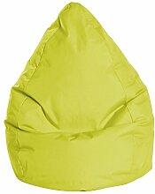 Sitzsack in grün, Beanbag Brava XL, Füllung aus 100 % EPS-Perlen, 220 l Volumen, Maße: B/H/T ca. 70/110/70 cm