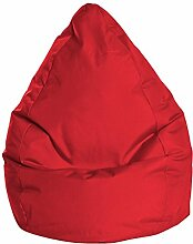 Sitzsack in rot, Beanbag Brava XL, Füllung aus 100 % EPS-Perlen, 220 l Volumen, Maße: B/H/T ca. 70/110/70 cm