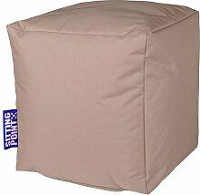 Sitzsack khaki, Cube Scuba, Material 100 % Polyester, Füllung 100 % EPS-Perlen, PVC-beschichtet, outdoorfähig, wasserabweisend, B/H/T ca. 40/40/40 cm