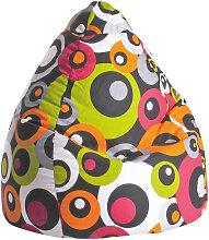 SITZSACK Kreise Braun, Orange, Weiß, Pink