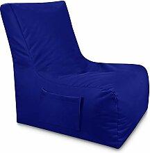 Sitzsack Lounge Sessel Beanbag mit Seiten Tasche-