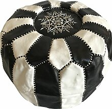 Sitzsack marokkanischen Puf Marokko in echtem Leder Ost Ethnic Möbel Fußstütze B5