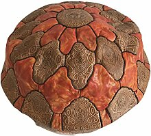 Sitzsack marokkanischen Puf Marokko in echtem Leder Ost Ethnic Möbel Fußstütze B4