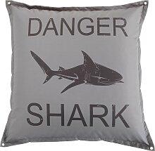 Sitzsack mit grauem Hai-Aufdruck