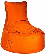Sitzsack orange Swing Brava Material 100 % Polyester, Füllung 100 % Polystyrol, mit Keder und Tasche, 300 l Volumen, Maße: B/H/T ca. 95/90/65 cm